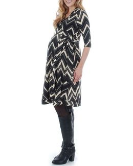 Mila Wrap Maternity/nursing Dress