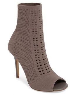 Rebellious Knit Peep Toe Bootie