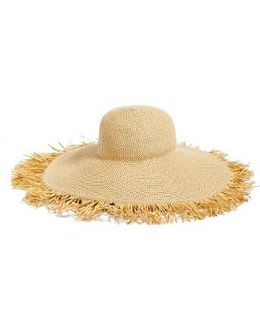 Fringed Squishee Packable Floppy Hat