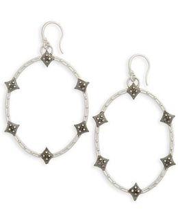 Old World Crivelli Oval Drop Diamond Earrings