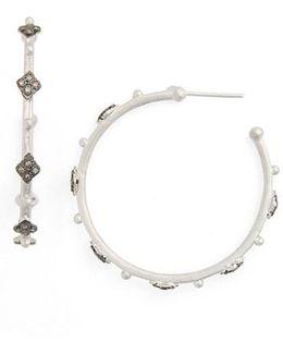 New World Cravelli Diamond Hoop Earrings