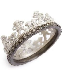 Old World Half Crown Diamond Ring