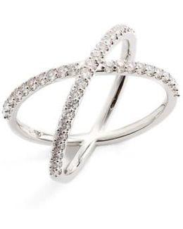 Crossover Cubic Zirconia Ring