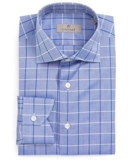 Regular Fit Windowpane Dress Shirt