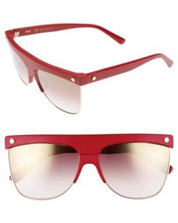 60mm Aviator Sunglasses - Rouge