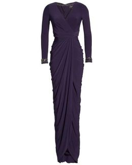 Beaded Jersey Gown