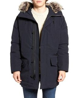 Faux Fur Trim Down & Feather Fill Snorkel Parka