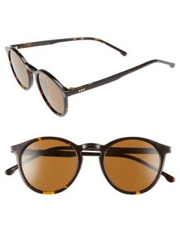 Aston 48mm Round Sunglasses