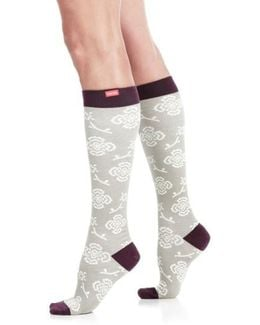 Queen's Floral Compression Trouser Socks