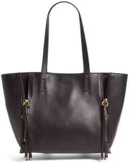 Medium Milo Calfskin Leather Tote