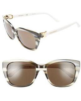 56mm Cat Eye Sunglasses - Olive