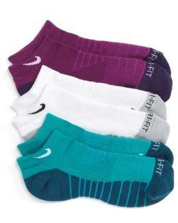 3-pack Cushioned Dri-fit No-show Socks, Purple