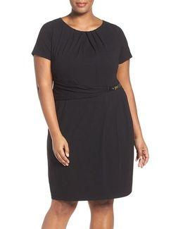 Buckle Sheath Dress