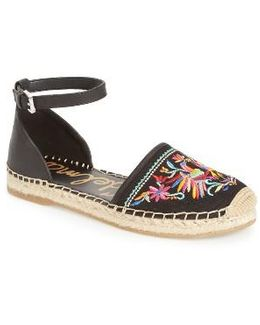 Jemmie Peacock Embroidered Espadrille