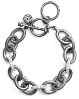 Contemporary Deco Heavy Chain Bracelet