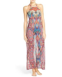Halter Cover-up Maxi Dress
