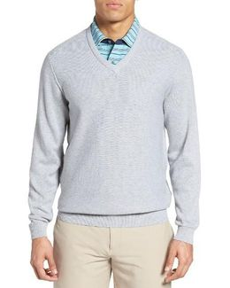 Pique Jersey V-neck Sweater