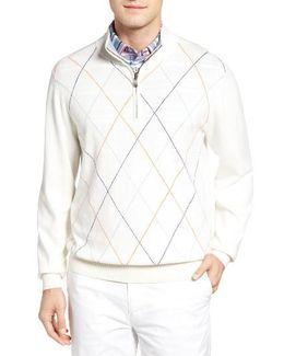 Argyle Quarter Zip Sweater