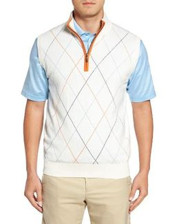Argyle Quarter Zip Sweater Vest