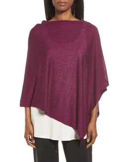 Silk & Organic Linen Poncho