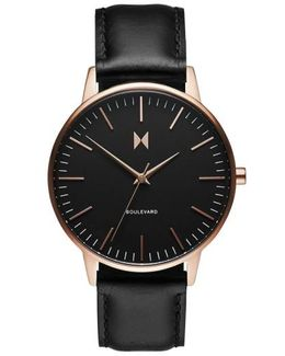 Boulevard Leather Watch