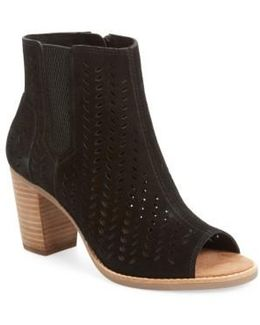 Majorca Perforated Suede Bootie