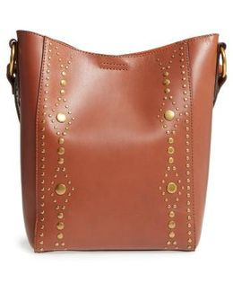 Harness Calfskin Leather Bucket Bag