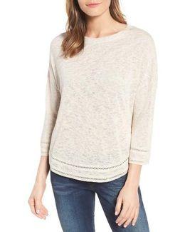 Caslon Shirttail Hem Knit Pullover