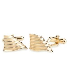 Curved & Grooved Cuff Links