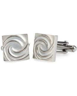 Swirl Square Cuff Links