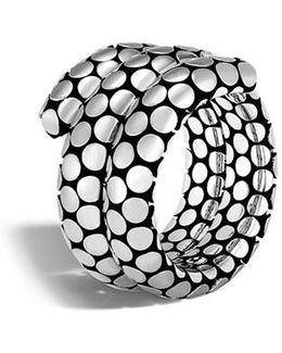 Dot Double Coil Ring