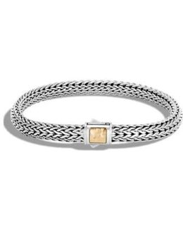 Classic Chain Hammered Clasp Bracelet