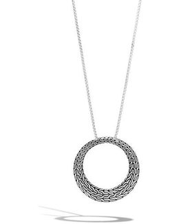 Classic Chain Circle Pendant Necklace