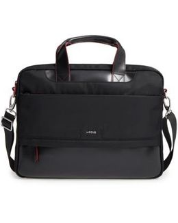 Alexus Nylon & Leather Briefcase