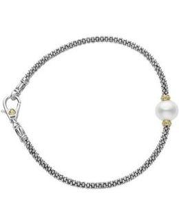 Luna Pearl Single Station Caviar Bracelet