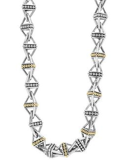 Ksl Pyramid Link Chain Necklace