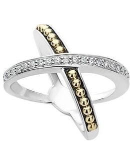 Ksl Diamond Pave Crossover Ring