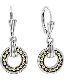 Enso Two Tone Drop Earrings