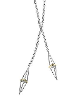 Lsl Pyramid Station Lariat Necklace