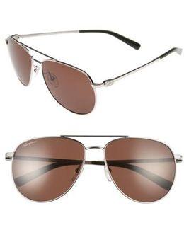 Gancio 60mm Aviator Sunglasses