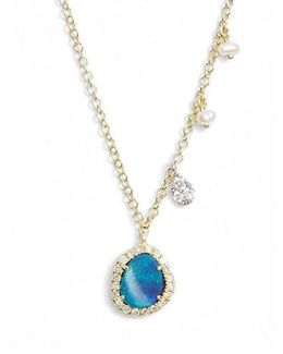 Meirat Mini Stone Diamond Pendant Necklace