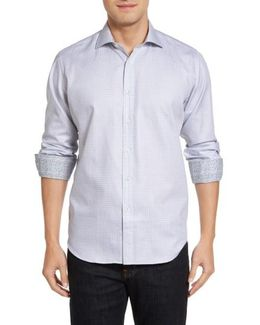 Classic Fit Houndstooth Sport Shirt