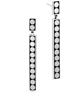 Dot Linear Drop Earrings