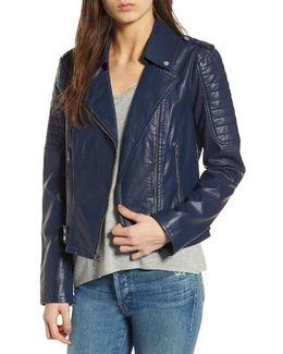 Leanne Faux Leather Jacket