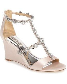 Tabby Embellished Wedge Sandal