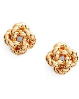 Rope Knot Stud Earrings