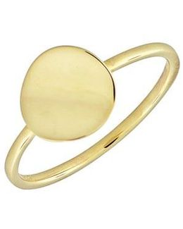 14k Gold Concave Disc Ring