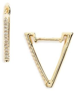 Diamond Triangle Hoop Earrings