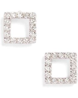 Aurora Diamond Open Square Stud Earrings (nordstrom Exclusive)