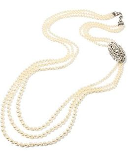 Ben X Belle Epoque Imitation Pearl Multistrand Necklace